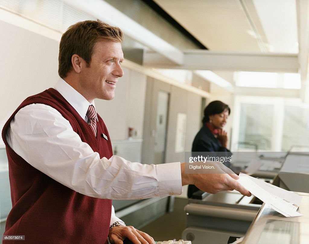 Receptionists at Airport Check-in Desk