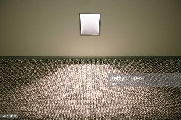 Recessed Light Illuminating Floor