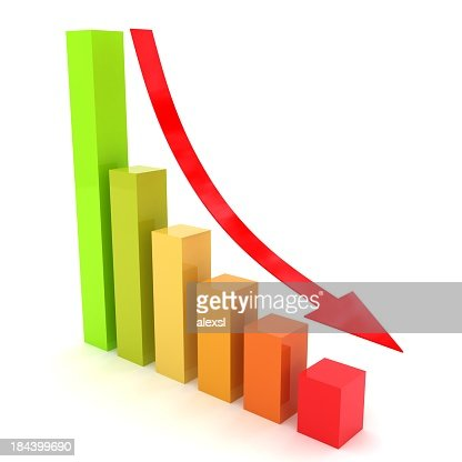 Recession Chart : Stock Photo