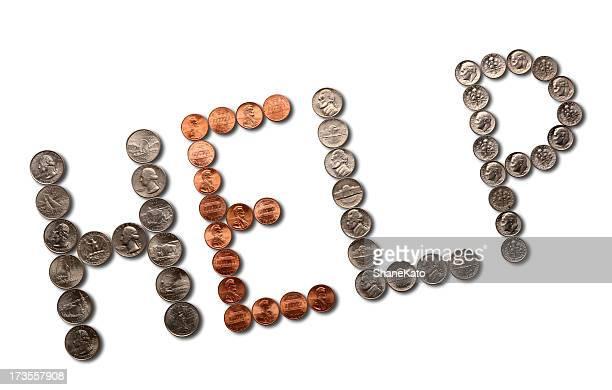 Crise financière-argent pièces de monnaie