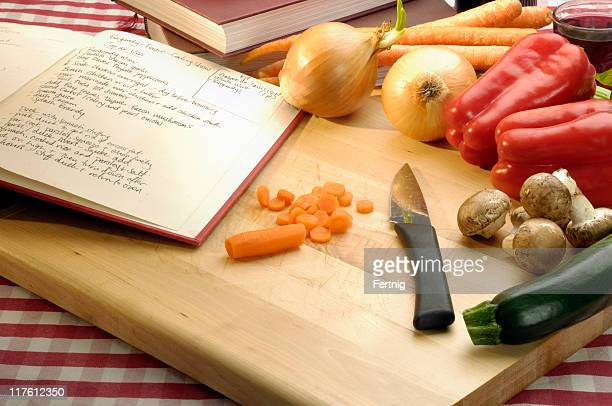 Recipe and vegetables