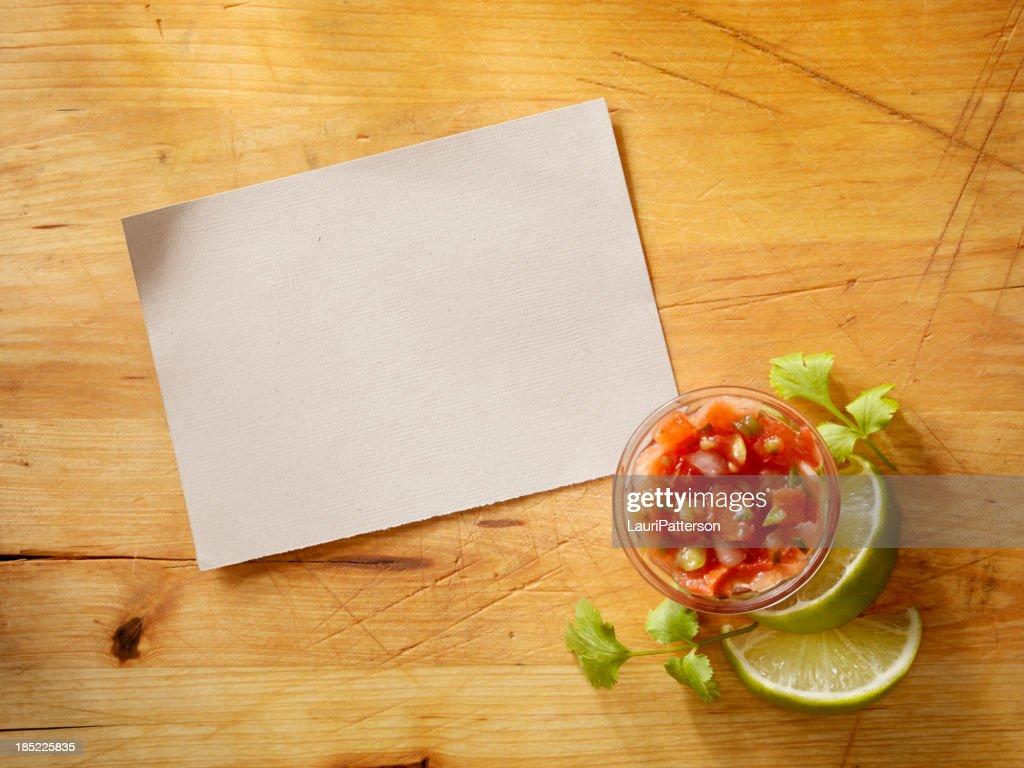 Recipe Card wih Salsa