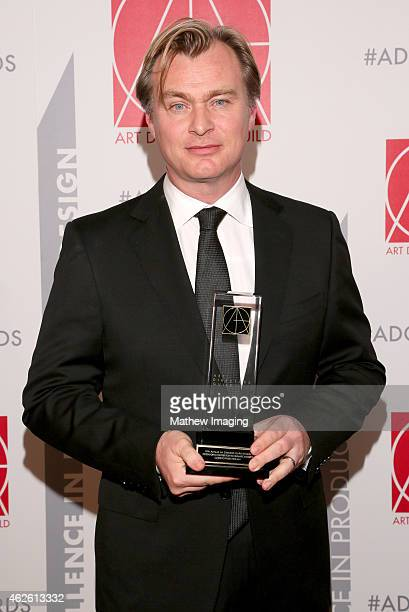 Recipient of Outstanding Contribution To Cinematic Imagery Christopher Nolan attends the 19th Annual Art Directors Guild Excellence In Production...