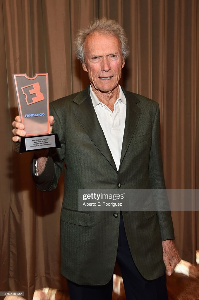"""Recipient of the Fandango Fan Choice award for Favorite Film of 2014, 'American Sniper,' Clint Eastwood attends CinemaCon and Warner Bros. Pictures Present """"The Legend of Cinema Luncheon: A Salute to Clint Eastwood"""" at Caesars Palace during CinemaCon, the official convention of the National Association of Theatre Owners, on April 22, 2015 in Las Vegas, Nevada."""