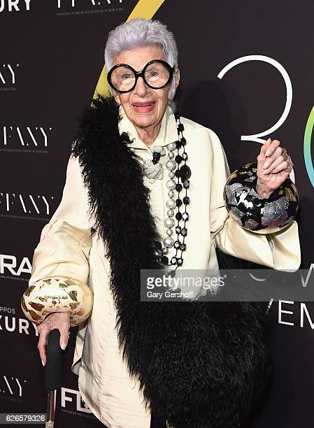 Recipient of the Icon Award Iris Apfel attends the 30th FN Achievement awards at IAC Headquarters on November 29 2016 in New York City
