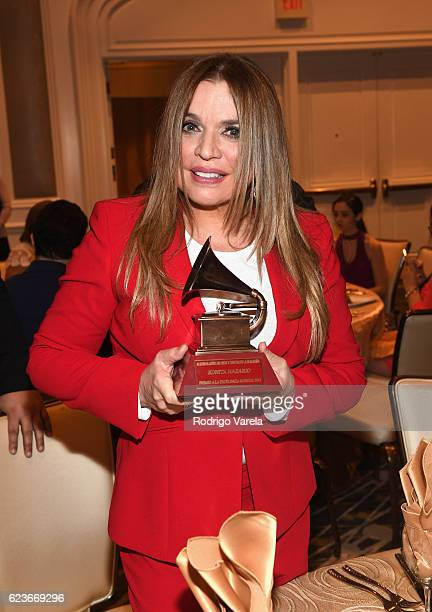Recipient of the 'Lifetime Achievement Award' Ednita Nazario attends the 2016 Latin Recording Academy Special Awards during the 17th annual Latin...