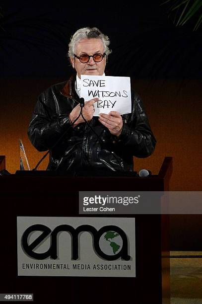 Recipient of the Lifetime Achievement Award George Miller speaks onstage during the 25th annual EMA Awards presented by Toyota and Lexus and hosted...