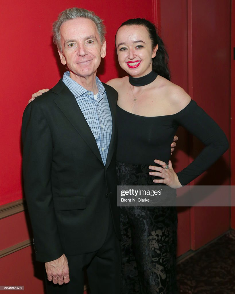 Recipient of the special honorary award, James Houghton (L) and Lily Houghton attend the 66th Annual Outer Critics Circle Theatre Awards held at Sardi's on May 26, 2016 in New York City.