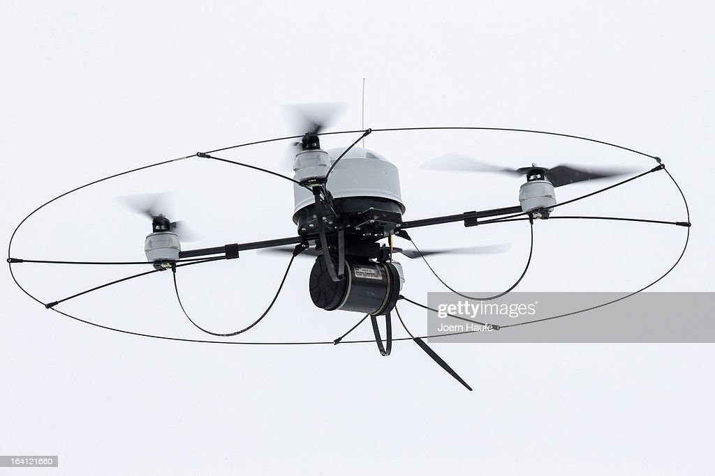 A reconnaissance drone during the GermanFrench armed forces exercise 'Feldberg 2013' at the military training area Oberlausitz on March 19 2013 in...