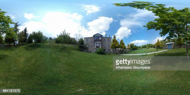 A reconstructed traditional mansion on June 04 2017 in Nymfaio Greece Nymfaio is a traditional settlement of Mount Vernon at an altitude of 1350 m in...