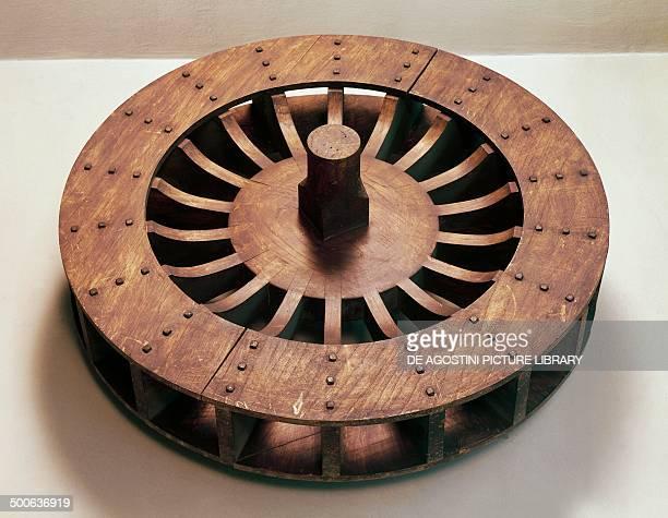 Reconstruction of a Roman water wheel Milan Museo Nazionale Della Scienza E Della Tecnica 'Leonardo Da Vinci'