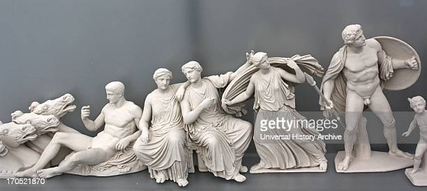 Reconstruction of the east pediment of the Parthenon according to a drawing by K Schwerzek The east pediment narrates the birth of Athena from the...
