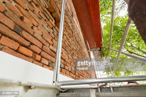 Reconstruction of the old house : Stock Photo