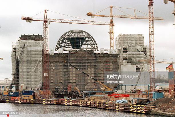 Reconstruction of the Reichstag building which will be the new home of the German parliament on March 06 in Berlin Germany