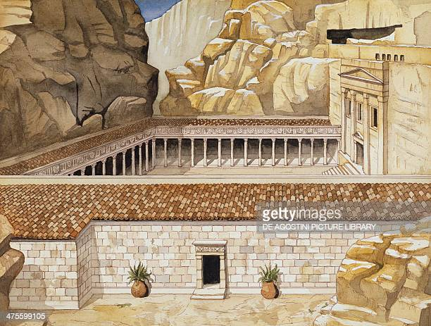 Reconstruction of the Roman Soldier's Tomb at Petra drawing Roman civilisation
