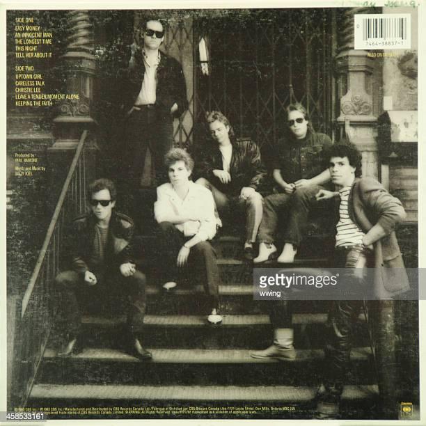 LP Rekord auf der Rückseite. Billy Joel
