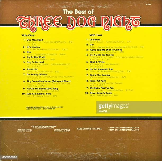 LP Rekord auf der Rückseite. Three Dog Night