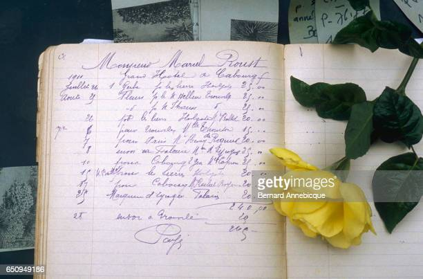 A record book kept by Mr Rossignol the florist of novelist Marcel Proust shows the purchases Proust made in 1911