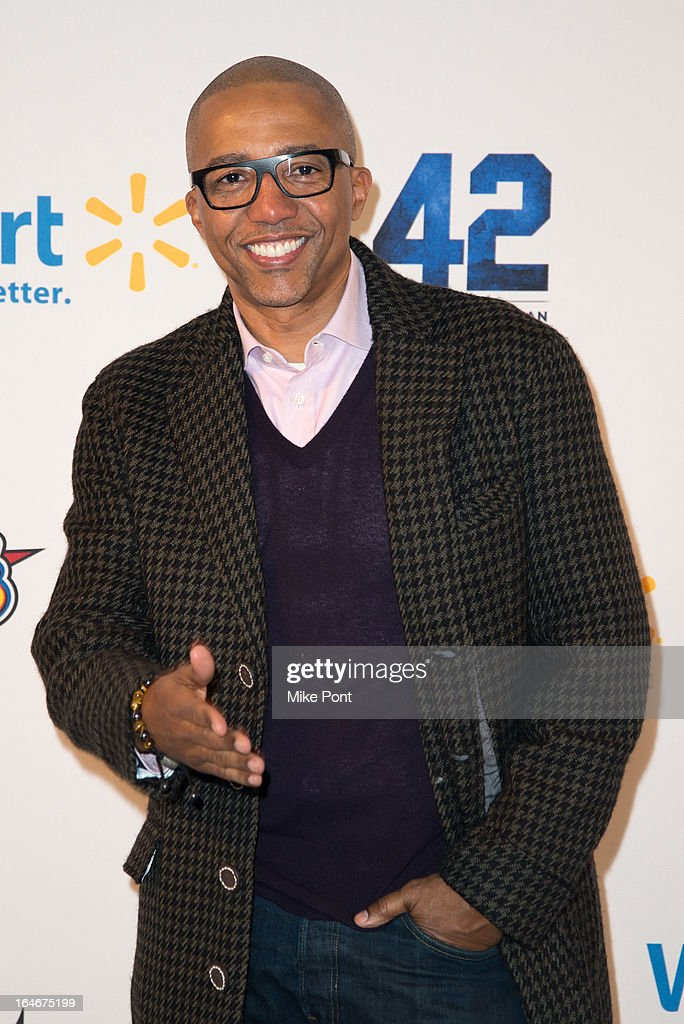 Record Executive <a gi-track='captionPersonalityLinkClicked' href=/galleries/search?phrase=Kevin+Liles&family=editorial&specificpeople=236082 ng-click='$event.stopPropagation()'>Kevin Liles</a> attends the '42' event honoring the legacy of Jackie Robinson at the Brooklyn Academy of Music on March 25, 2013 in New York City.