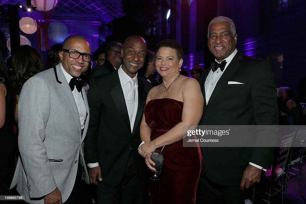Record Executive Kevin Liles, President of Music Programming and Specials at BET Networks Stephen Hill, Chairman and CEO of BET Networks Debra Lee and William Bell attend the Inaugural Ball hosted by BET Networks at Smithsonian American Art Museum & National Portrait Gallery on January 21, 2013 in Washington, DC.