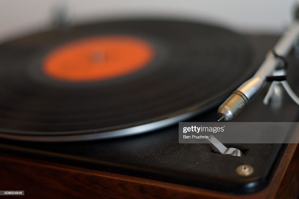 A record player displayed in a recreation of Jimi Hendrix's bedroom as it is displayed as part of the Handel and Hendrix exhibition on February 8, 2016 in London, England. The permanent exhibtion in the former London home of Jimi Hendrix celebrates the lives of Jimi Hendrix and George Frideric Handel who also lived in the property next door in the 1700s.