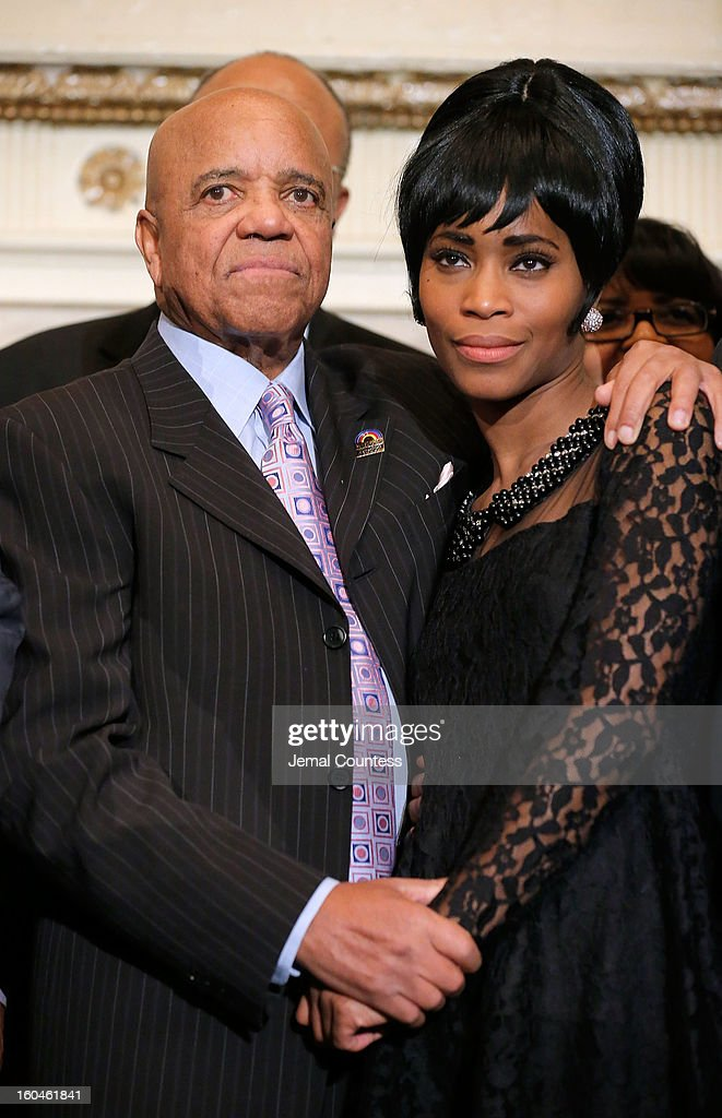 Record producer and founder of Motown Records Berry Gordy and actress Valisia Le Kae attend The 16th Annual Wall Street Project Economic Summit - Day 1 at The Roosevelt Hotel on January 31, 2013 in New York City.