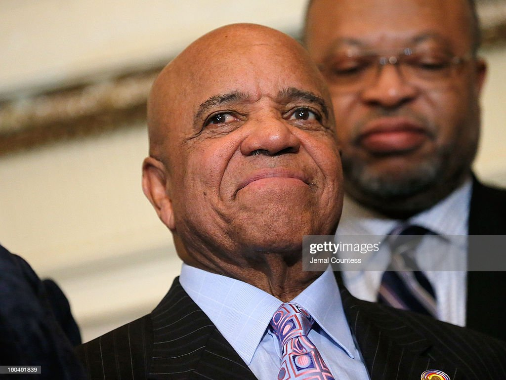 Record producer and founder of Motown Records Berry Gordy onstage after receiving the Unity Globe Award during The 16th Annual Wall Street Project Economic Summit - Day 1 at The Roosevelt Hotel on January 31, 2013 in New York City.