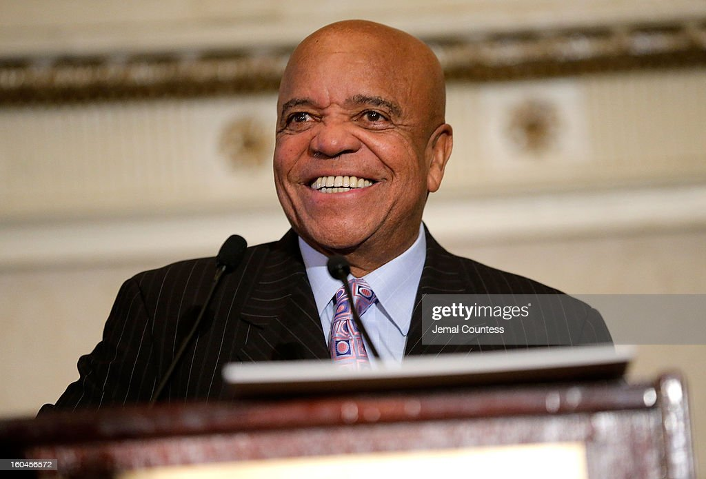 Record producer and founder of Motown Records Berry Gordy speaks onstage after receiving the Unity Globe Award during The 16th Annual Wall Street Project Economic Summit - Day 1 at The Roosevelt Hotel on January 31, 2013 in New York City.