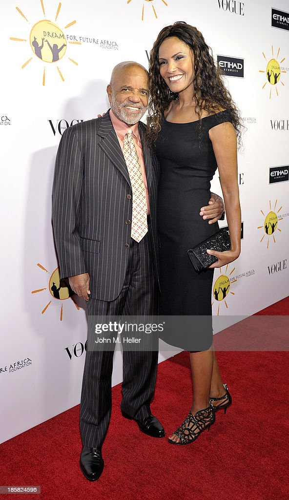 Record Producer Barry Gordy and his guest attend the Dream For Future Africa Foundation's Inaugural Gala Honoring Franca Sozzani Of VOGUE Italia at Spago on October 24, 2013 in Beverly Hills, California.