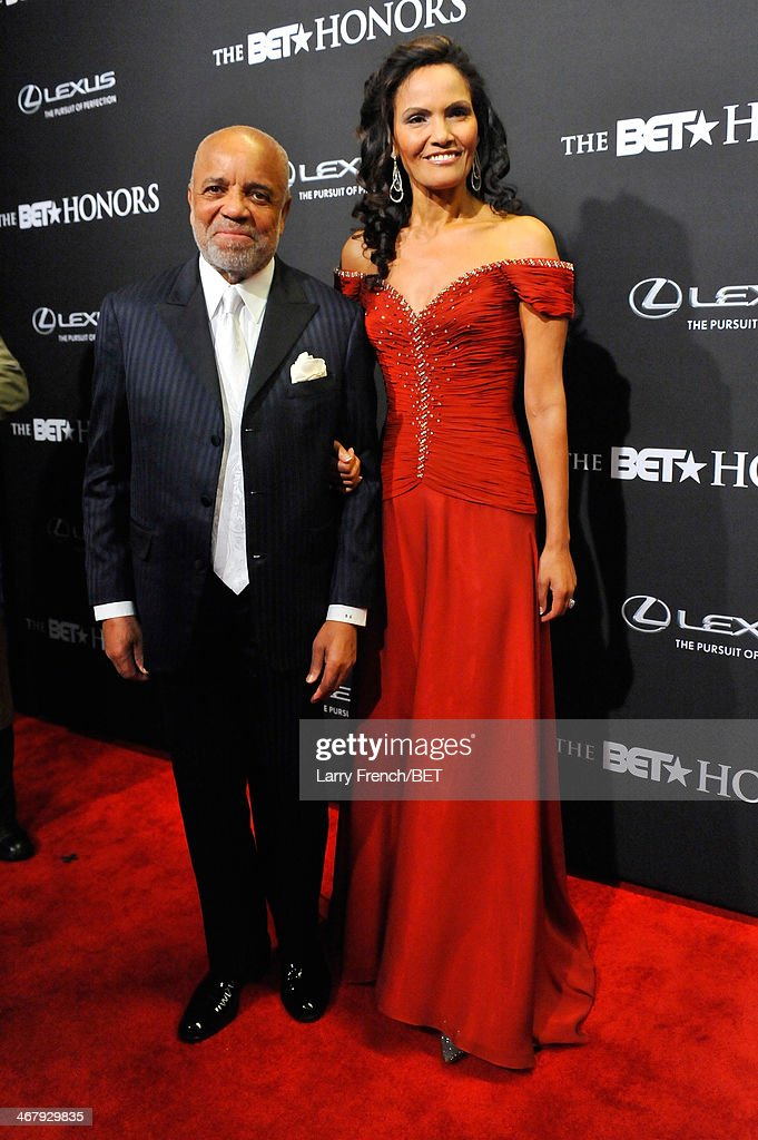 Record producer Berry Gordy (L) and Eskedar Gobeze attend BET Honors 2014 at Warner Theatre on February 8, 2014 in Washington, DC.
