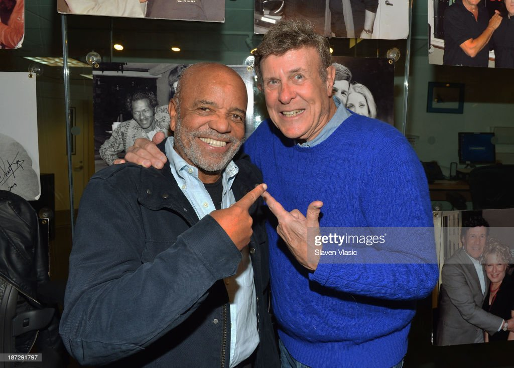 Record Producer Berry Gordy (L) talks with Cousin Brucie on '60s on 6' at SiriusXM Studios on November 6, 2013 in New York City.