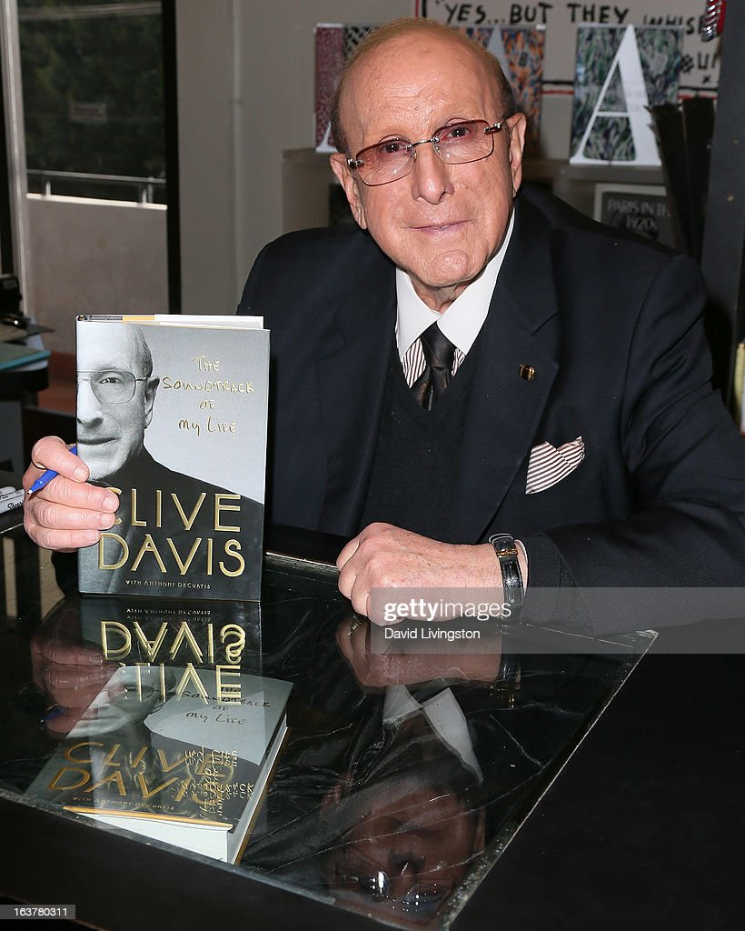 Record producer Clive Davis attends a signing for his book 'The Soundtrack of My Life' at Book Soup on March 15, 2013 in West Hollywood, California.