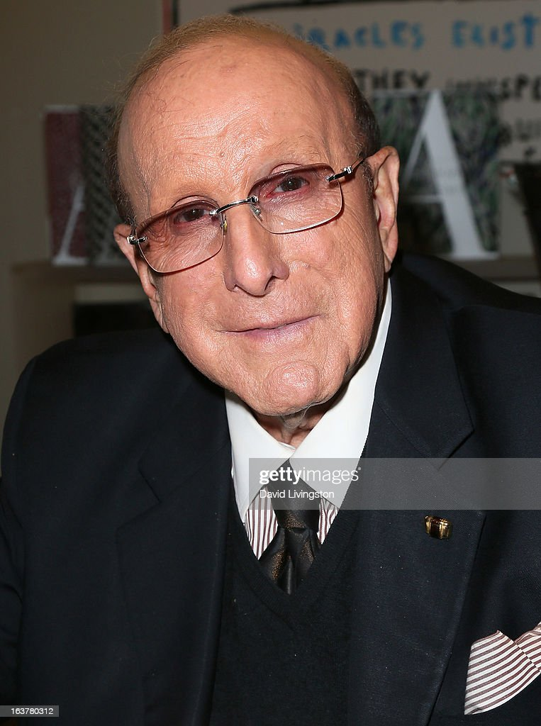 Record producer <a gi-track='captionPersonalityLinkClicked' href=/galleries/search?phrase=Clive+Davis&family=editorial&specificpeople=209314 ng-click='$event.stopPropagation()'>Clive Davis</a> attends a signing for his book 'The Soundtrack of My Life' at Book Soup on March 15, 2013 in West Hollywood, California.