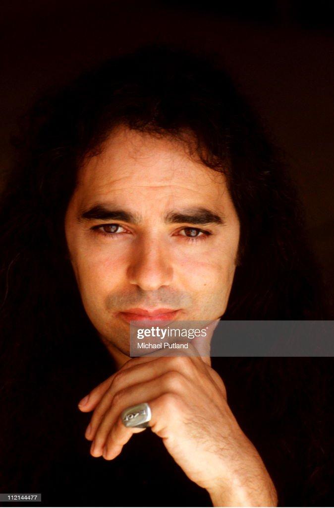 Record producer Daniel Lanois, portrait, Venice Beach, California, September 1989.