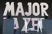 Record producer Diplo DJ Jillionaire and rapper Walshy Fire of Major Lazer perform during the 2016 Panorama Festival on July 22 2016 in New York City