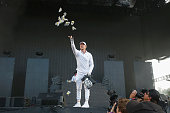 Record producer Diplo of Major Lazer performs during the 2016 Panorama Festival on July 22 2016 in New York City