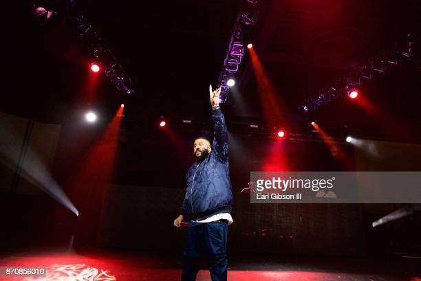 Record producer DJ Khaled performs at ComplexCon 2017 on November 5 2017 in Long Beach California