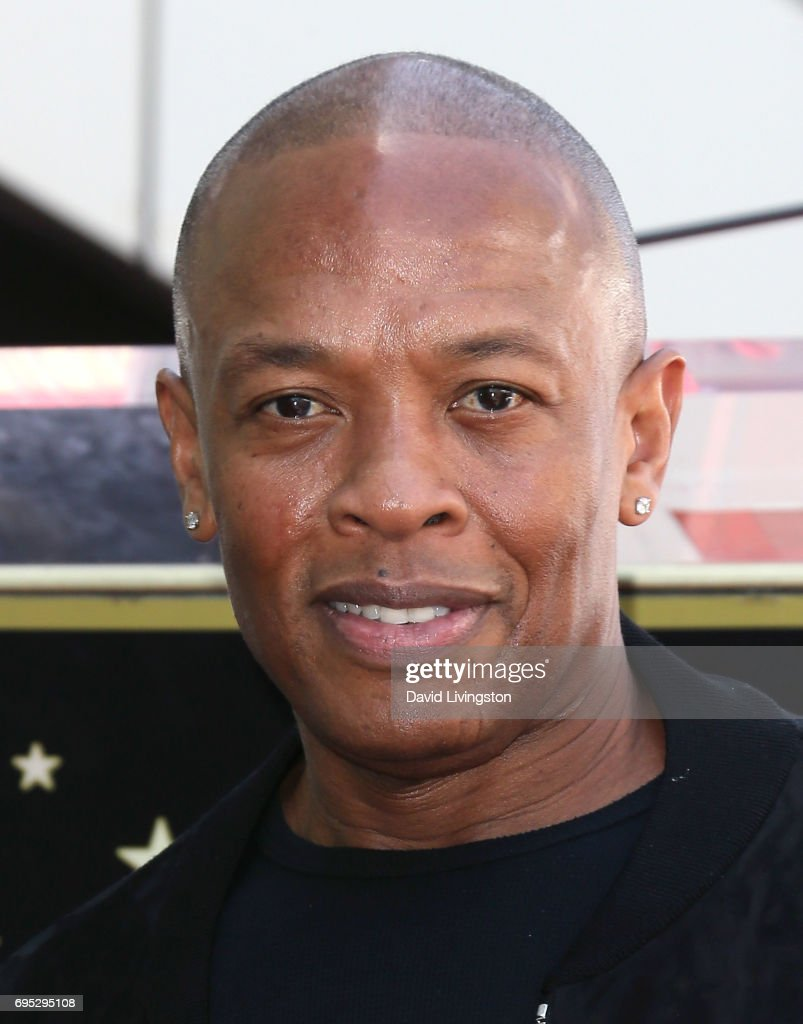 Record producer Dr. Dre attends Ice Cube being honored with a Star on the Hollywood Walk of Fame on June 12, 2017 in Hollywood, California.