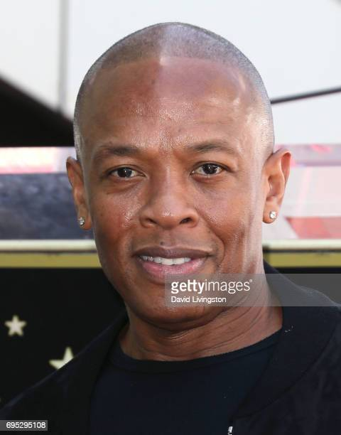Record producer Dr Dre attends Ice Cube being honored with a Star on the Hollywood Walk of Fame on June 12 2017 in Hollywood California