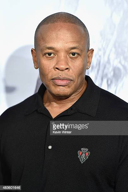 Record producer Dr Dre attends the Universal Pictures and Legendary Pictures' premiere of 'Straight Outta Compton' at Microsoft Theater on August 10...