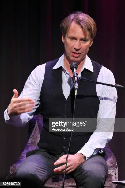 Record producer Giles Martin speaks onstage at Celebrating 50 Years of Sgt Pepper's Lonely Hearts Club Band at The GRAMMY Museum on May 2 2017 in Los...