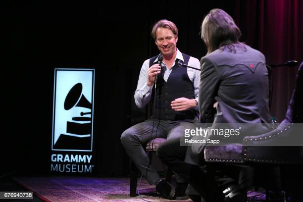 Record producer Giles Martin speaks with Executive Director of the GRAMMY Museum Scott Goldman at Celebrating 50 Years of Sgt Pepper's Lonely Hearts...