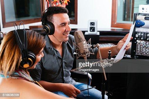 Record producer : Stock Photo