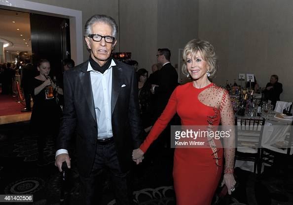 Record Producer Richard Perry and Jane Fonda attend the 72nd Annual Golden Globe Awards cocktail party at The Beverly Hilton Hotel on January 11 2015...