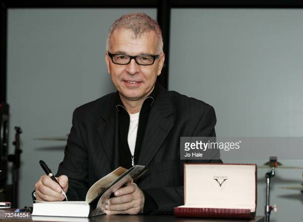 Record producer Tony Visconti attends a signing session for his book 'Tony Visconti The Autobiography' at Harrods on February 7 2007 in London England
