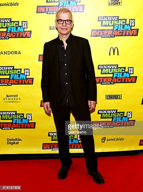 Record producer Tony Visconti attends SXSW Keynote Tony Visconti during the 2016 SXSW Music Film Interactive Festival at Austin Convention Center on...
