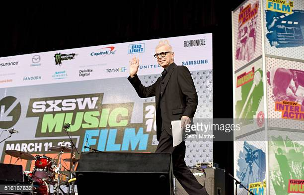 Record producer Tony Visconti speaks onstage at SXSW Keynote Tony Visconti during the 2016 SXSW Music Film Interactive Festival at Austin Convention...