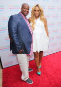 Record Producer Vincent Herbert and his wife Reality TV Personality Tamar Braxton attend their carnival themed baby shower at the Hotel BelAir on May...