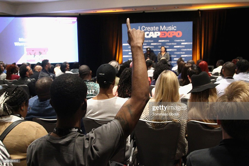 Record producer Warryn Campbell and musician Erica Campbell speak onstage at the iWrite:Master Session during the 2016 ASCAP 'I Create Music' EXPO on April 28, 2016 in Los Angeles, California.