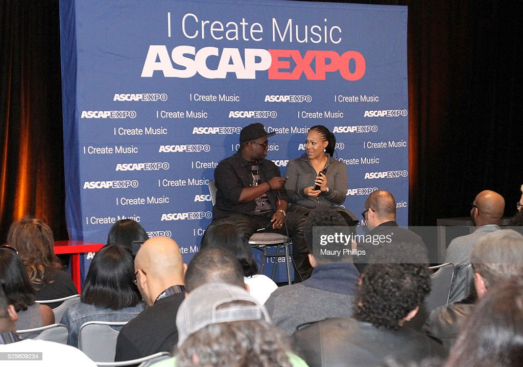 Record producer Warryn Campbell (L) and musician Erica Campbell speak onstage during the iWrite:Master Session during the 2016 ASCAP 'I Create Music' EXPO on April 28, 2016 in Los Angeles, California.